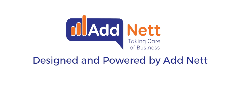 Designed and Powered by Add Nett logo